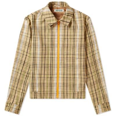 Kenzo Check Contrast Zip Jacket