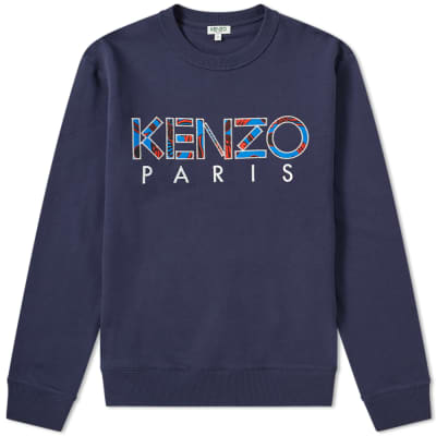 Kenzo Embroidered Paris Logo Crew Sweat