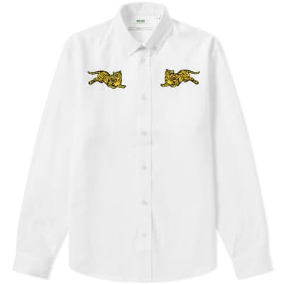 Kenzo Jumping Tiger Button Down Oxford Shirt