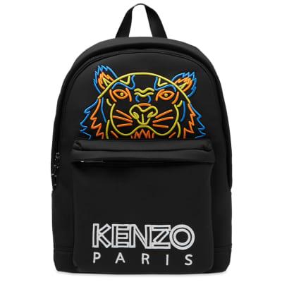 Kenzo Neon Neoprene Tiger Backpack