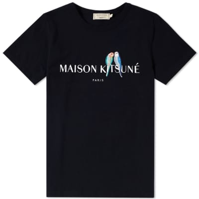 Maison Kitsuné x END. Lovebirds Logo Tee