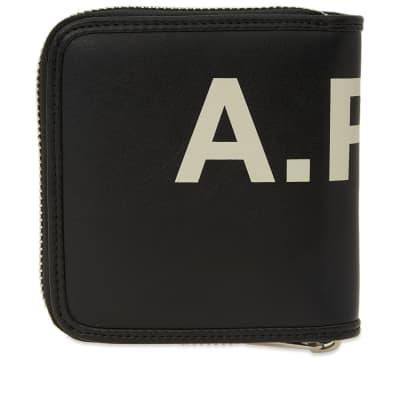 A.P.C. Transversal Vinyl Logo Zip Wallet