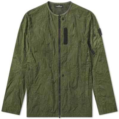 Stone Island Shadow Project Imprint Nylon Collarless Jacket