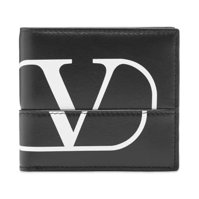 Valentino Constructed V Logo Wallet