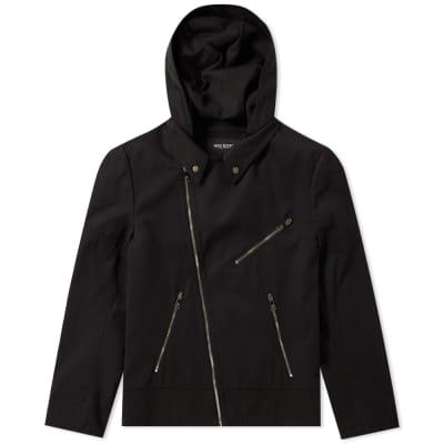 Neil Barrett Zip Hooded Biker Jacket