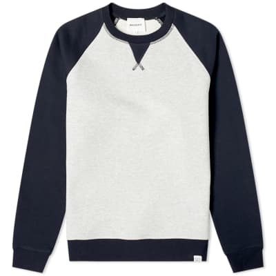 Norse Projects Ketel Contrast Sleeve Sweat