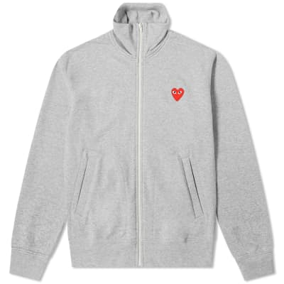 Comme des Garcons Play Red Heart Zip Back Print Track Top