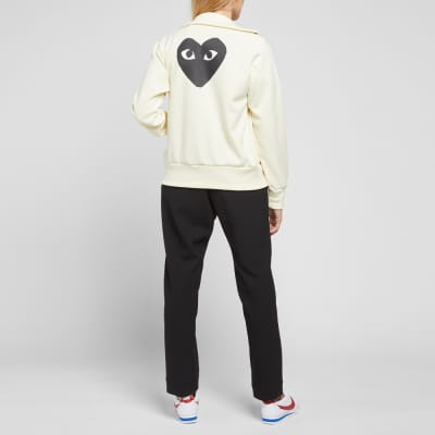 Comme des Garcons Play Women's Black Heart Zip Backprint Track Top