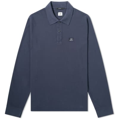 850335705 C.P. Company Long Sleeve Patch Logo Polo