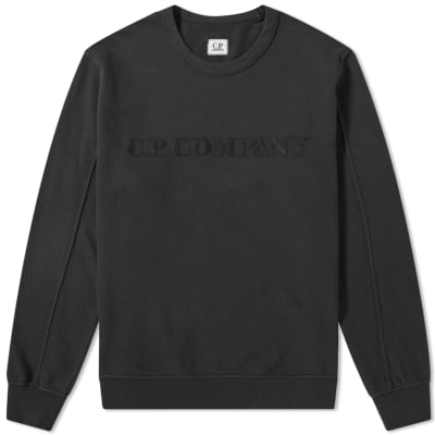 C.P Company Straight Logo Crew Sweat