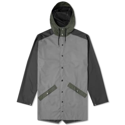 Rains Colour Block Long Jacket