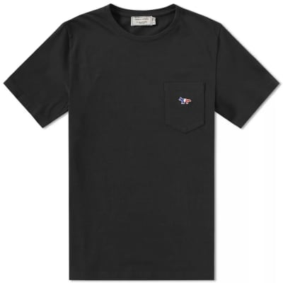 Maison Kitsuné Tricolor Fox Pocket Tee