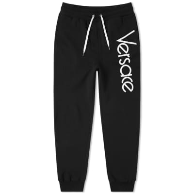 Versace 80s Logo Embroidered Sweat Pant
