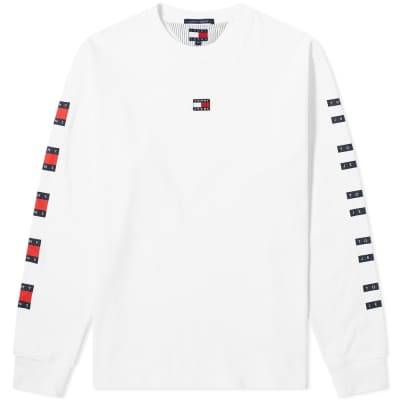 Tommy Jeans Long Sleeve Repeat Flag Tee