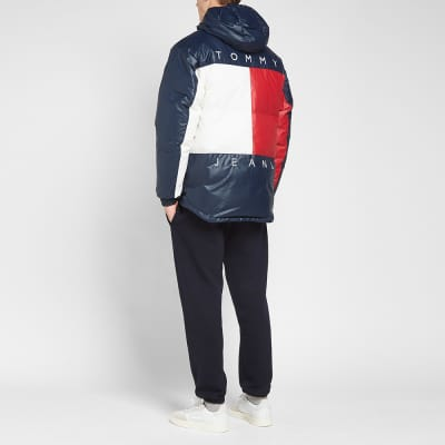 Tommy Jeans Popover Flag Puffer Jacket