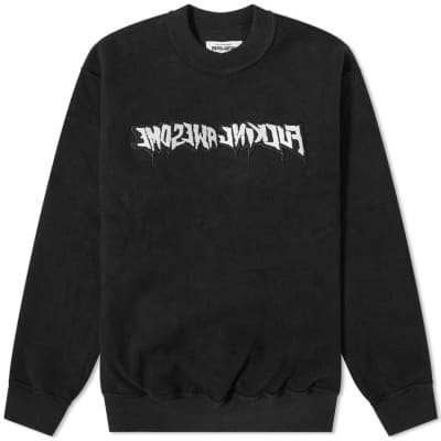 Fucking Awesome Reversible Empty Drip Crew Sweat