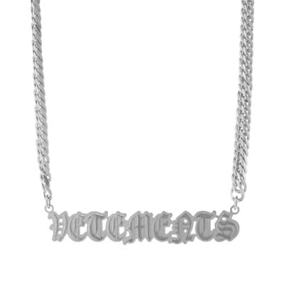 Vetements Gothic Logo Necklace