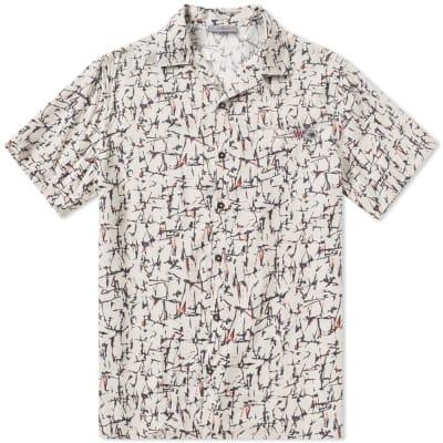 Lanvin Cracked Paint Bowling Shirt