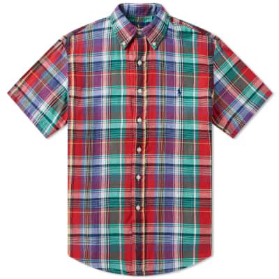 Polo Ralph Lauren Short Sleeve Double Face Button Down Check Shirt