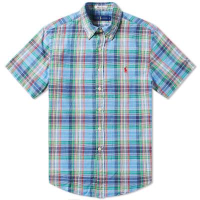 Polo Ralph Lauren Short Sleeve Madras Button Down Check Shirt