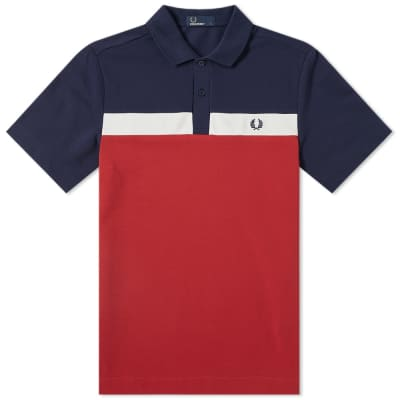Fred Perry Contrast Panel Polo