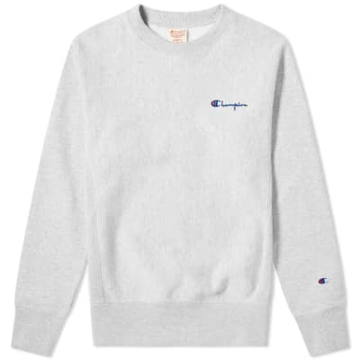 5cede97f Champion Reverse Weave Rear Script Logo Crew Sweat