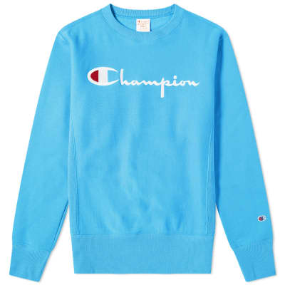 Champion Reverse Weave Script Logo Crew Sweat