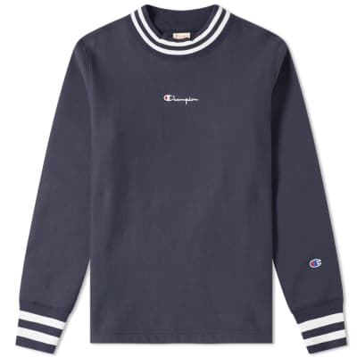 Champion Reverse Weave Script Logo High Neck Sweat