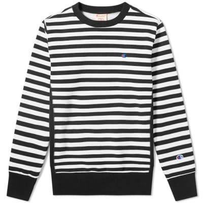 Champion Reverse Weave Stripe Crew Sweat