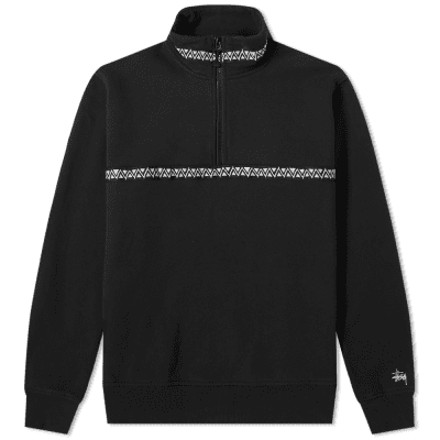 Stussy Woven Tape Mock Neck Sweat