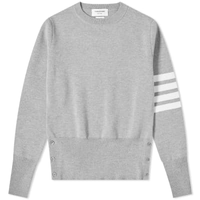 Thom Browne Milano Stitch 4 Bar Crew Knit