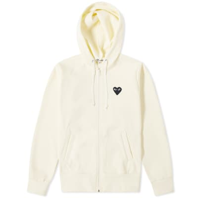 Comme des Garcons Play Women's Black Heart Full Zip Backprint Hoody