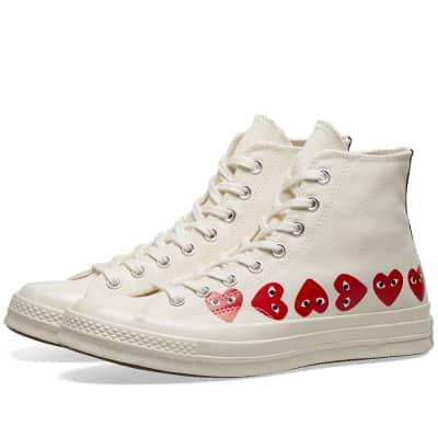Comme des Garcons Play x Converse Chuck Taylor Multi Heart 1970s Hi