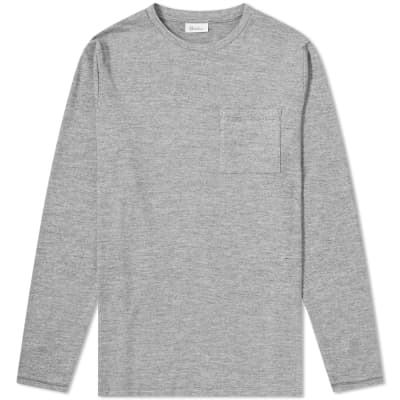 Schiesser Marius Long Sleeve Striped Pocket Tee