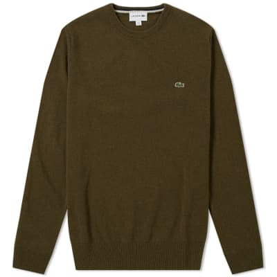 Lacoste Lambswool Crew Knit