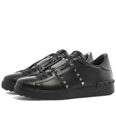 Valentino Open Low Rockstud Untitled Sneaker