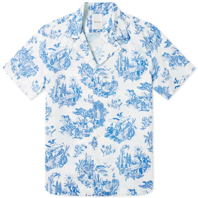 Wood Wood Brandon Printed Vacation Shirt