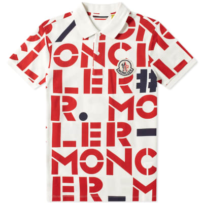 Moncler Genius - 2 Moncler 1952 - All Over Text Logo Polo