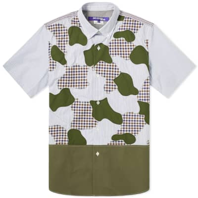 Junya Watanabe MAN Short Sleeve Cut & Sew Camo Shirt