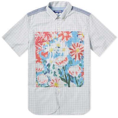 Junya Watanabe MAN Short Sleeve Floral Print Shirt