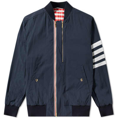 Thom Browne Oversized Arm Bar Nylon Bomber Jacket