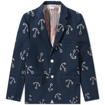 Thom Browne Unconstructed Anchor Blazer