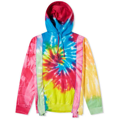 Needles 5 Cuts Tie Dyed Popover Hoody
