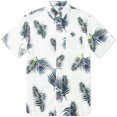 Saturdays NYC Short Sleeve Bruce Peak Palm Shirt