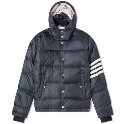 Thom Browne 4 Bar Hooded Jacket Down Jacket