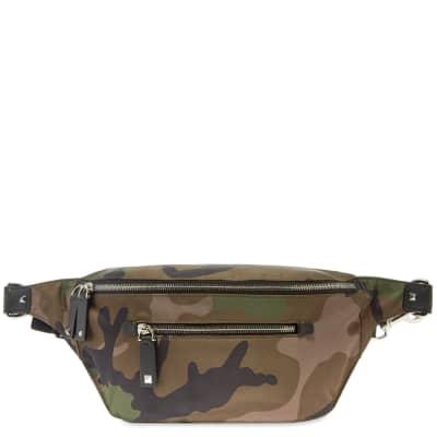 Valentino Camo VLTN Large Nylon Waist Bag