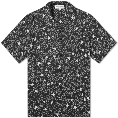 57389f09a44 Saint Laurent Star Graffiti Silk Vacation Shirt