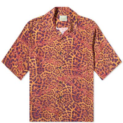 Aries Leopard Chains Hawaiian Shirt