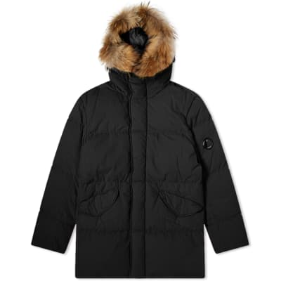 C.P. Company Long Fur Collar Down Parka