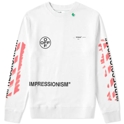 Off-White Stencil Diagonals Crew Sweat